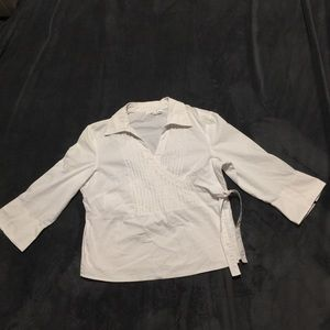 Cato white wrap top size Large